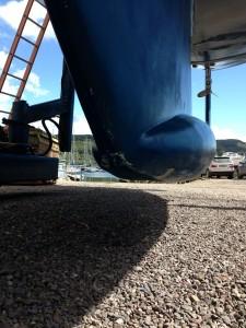 Minimal damage to keel.