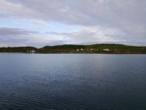 Our delightful anchorage in Gigha