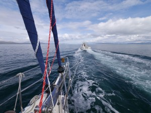 Towed along the Sound of Jura