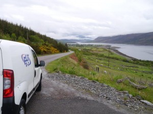 Our special rental - -overlooking Ullapool.