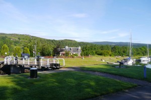 Our overnight stopover at Cullochy Lock