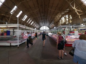 Entire lane of this market given up to butcher stalls!
