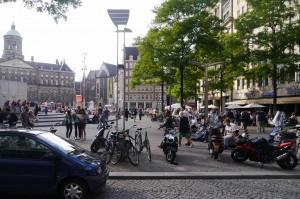 Crowded Amsterdam