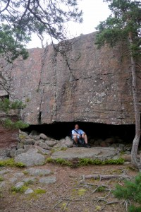Many overhanging slabs of granite could have provided primitive shelter.