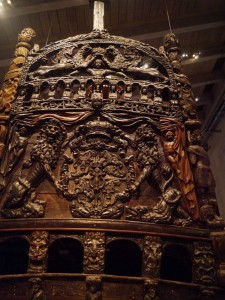 Vasa's intricate stern carvings