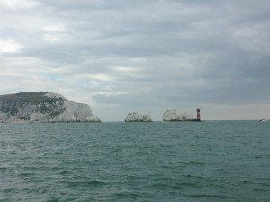 The Needles - guarding the entrance to the Solent