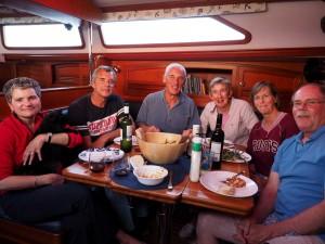 Dinner - Laurie (& Bella), Ron, Richard, Ali, Ineke & Mike