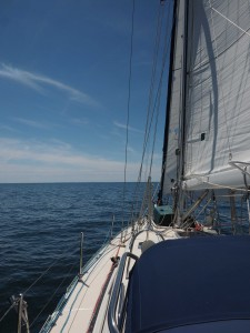 Blue Sky, 10Kts across the beam! What a way to start retirement!