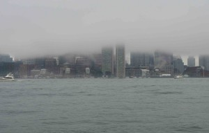 Boston in the fog!