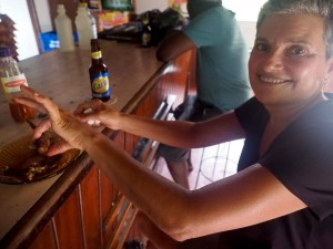 All good walks end at the pub - this one didn't serve food - but they did serve Fried Fish! Delicious!