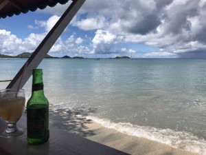Relaxing in Hillsborough, Carriacou at La Playa Beach Bar