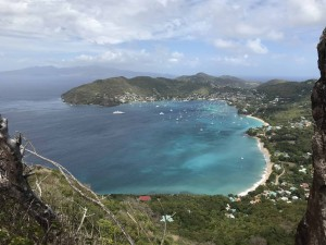Bequia's Admiralty Bay from Peggy's Rocks